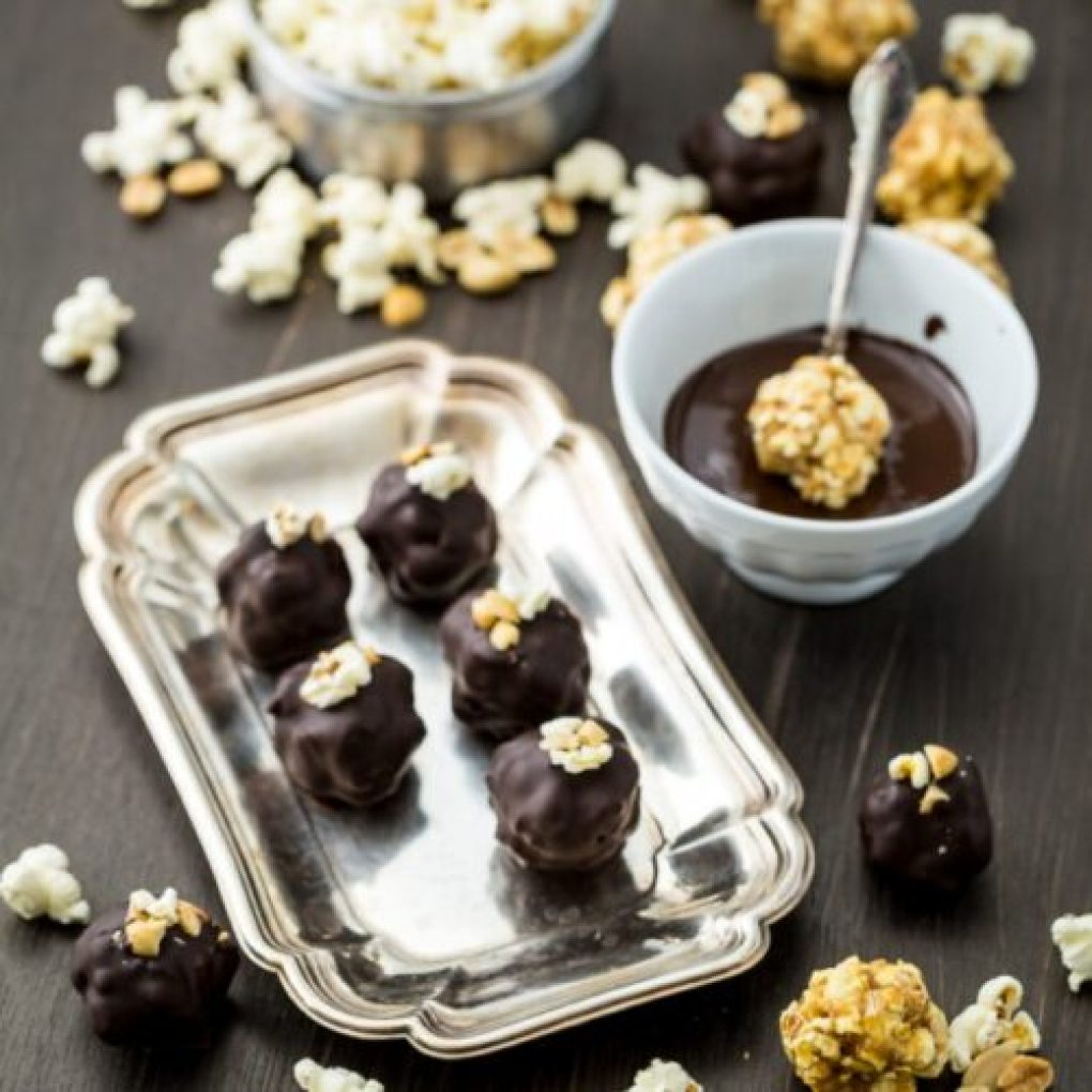 Pipoca truffles de chocolate