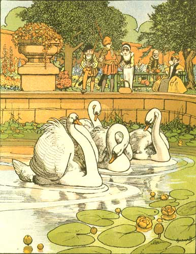 Illustration from The Ugly Duckling by Hans Christian Andersen. John Hassall, illustrator.