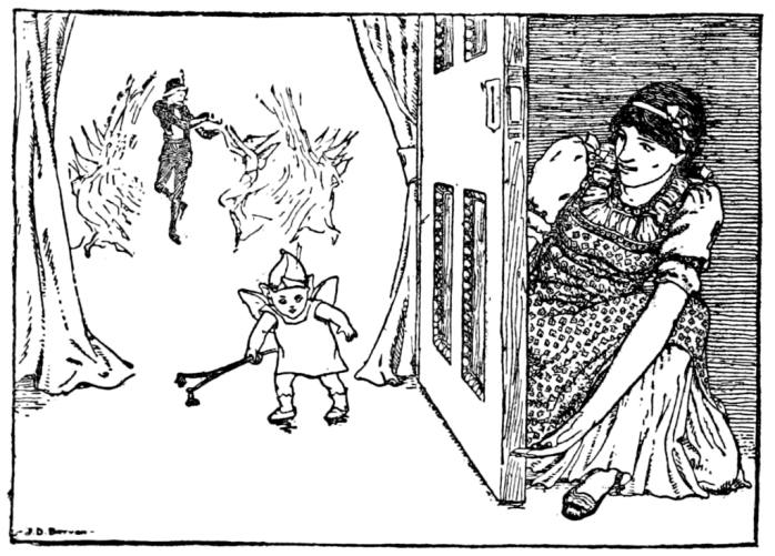 Kate and the Fairy Baby, illustration from English Fairy Tales by Joseph Jacobs, 1895