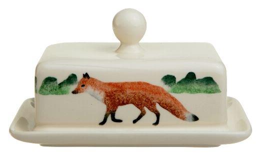 fox butter dish