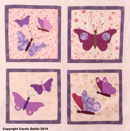 Butterfly quilting template example