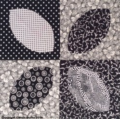 Carols Quilts Frangipani Reversible black and white