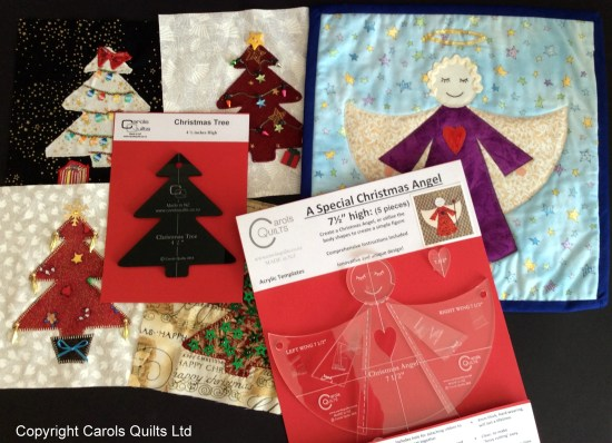 Carols Quilts Christmas Bundle Oct 2014 Angel and tree