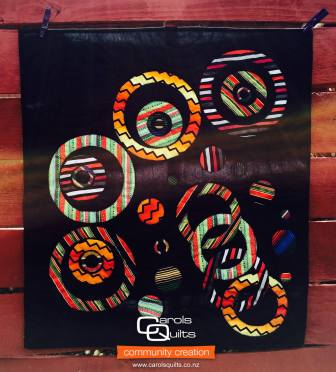 Carols Quilts Circles on Black with Community
