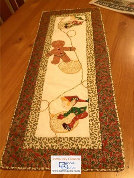 Carol Quilts Gingerbread Template Christmas runner