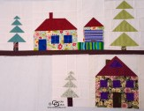 Carols Quilts Patchwork Houses and a patchwork village