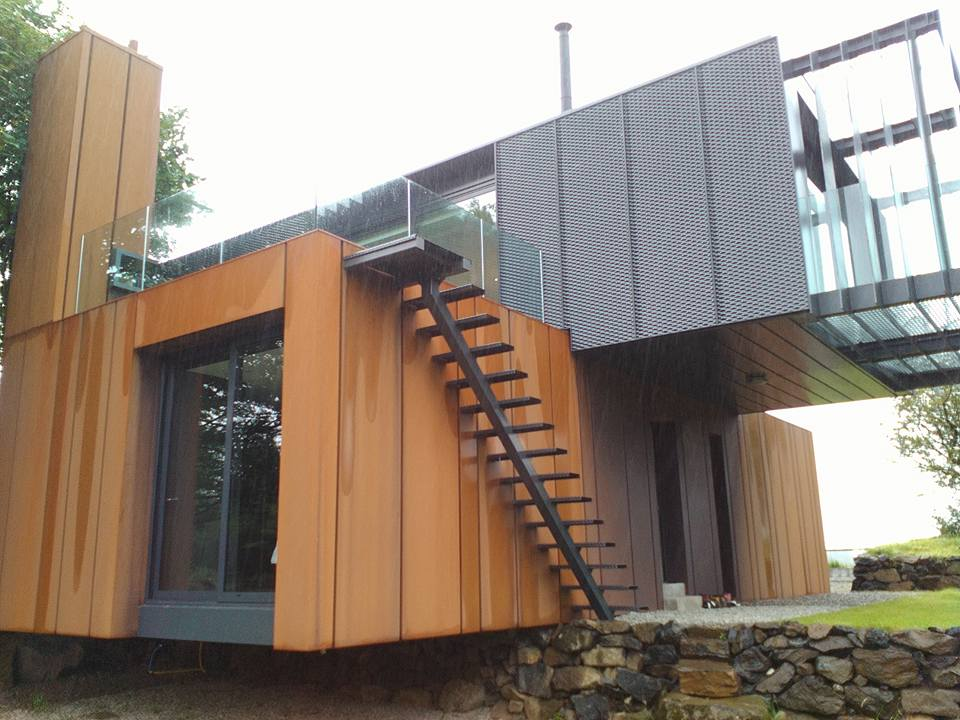Shipping container home building workshop with q a panel for Making a shipping container home