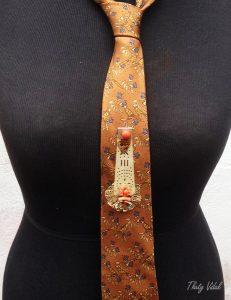 Márgara, prendedor de gravata ou de foulard ( lenço de pescoço em seda)