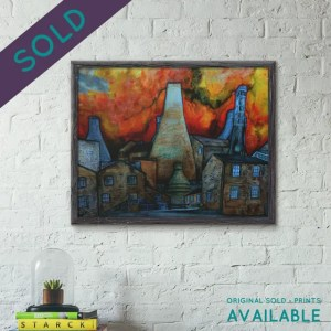 Framed print of the Potteries - original sold prints available