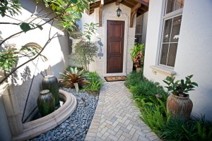 Villa Entrance — Naples, FL timeless, beautiful villa home in Estuary at Grey Oaks