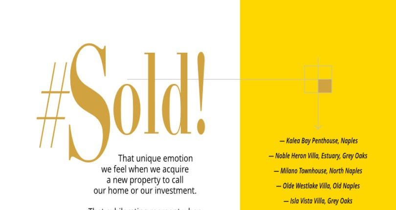 #SOLD! Selling or buying a property in Naples is exhilarating