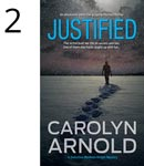 Justified by Carolyn Arnold blood spattered money on a green background