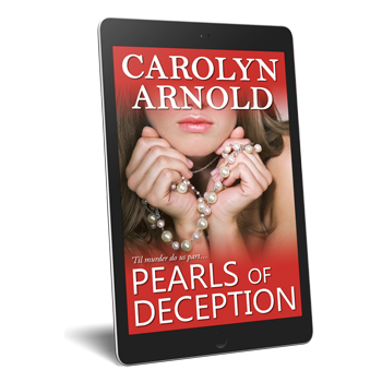 Pearls of Deception a short story by Carolyn Arnold a beautiful woman with a strand of pearls in her hands