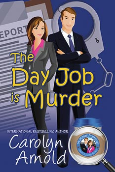 Valentine's Day is Murder by Carolyn Arnold a cartoon couple dining on a beach with a cruise ship passing in the background