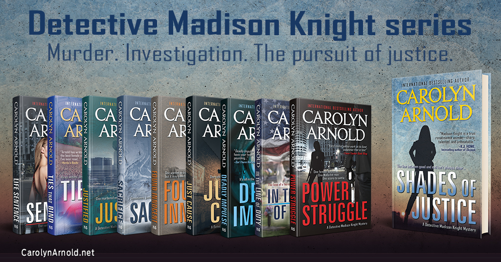 """Detective Madison Knight is """"one of the best female cops that I've ever read"""""""