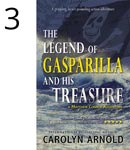 The Legend of Gasparilla and His Treasure by Carolyn Arnold pirate flag over a stormy sea.