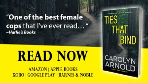 Ties that Bind by Carolyn Arnold Read Now, a dark dirt pathway winding through the trees