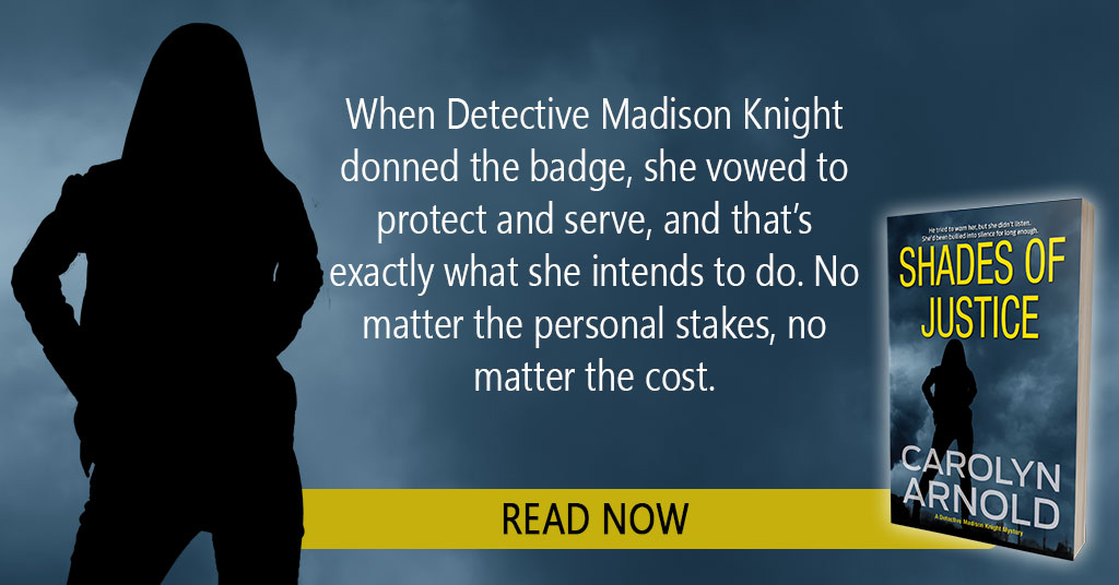 Detective Madison Knight in Shades of Justice #BookSpotlight