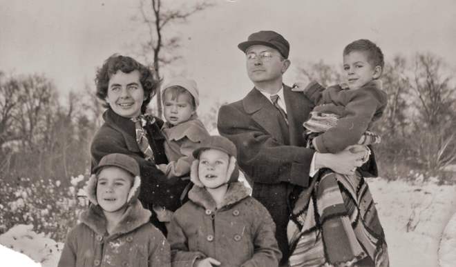 Baldwin family photo, 1951, in St. Paul, Minnesota