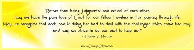 judgment vs charity