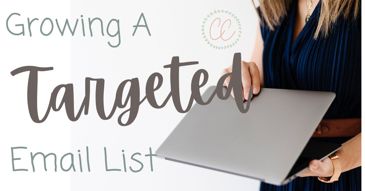how to grow a targeted email list coach with laptop