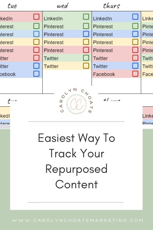 Need to track how and where you are repurposing your content? Get this free spreadsheet to visualize your content marketing system! #marketing #contentmarketing
