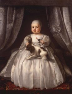 Charles II as an infant in 1630, painting attributed to Justus van Egmont