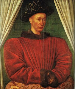 Charles VII by Jean Fouquet 1445-1450