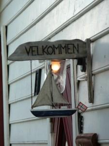 Norwegian Welcome Sign