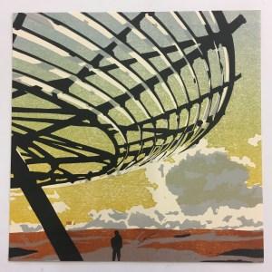 Image of linocut 'Regenerating by Carolyn Murphy