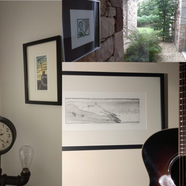 Image showing Carolyn Murphy's framed work on walls
