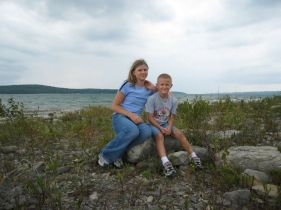 Kristi and Zack by Lake Charlevoix