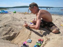 Jake enjoying the beach
