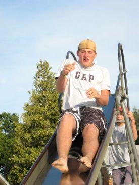 Taylor on the slide
