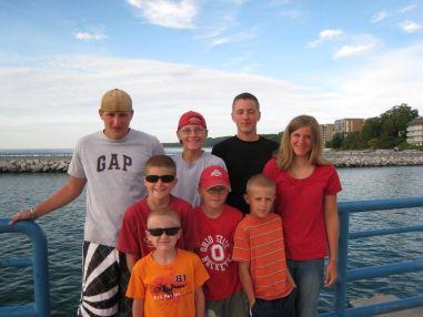 Taylor, Luke, Kevin M., Kristi, Jacob, Nicholas, Zachary and Josiah at Charlevoix