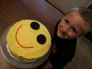 smiley face cake for smiley Josiah