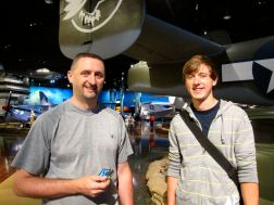 Kevin and Kevin M. at the air zoo