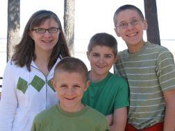 Kristi, Zachary, Jacob and Luke at the park