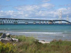 The bridge from Mackinaw City