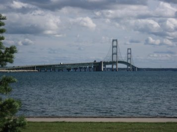 bridge view from St. Ignace