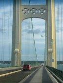 on the bridge headed home