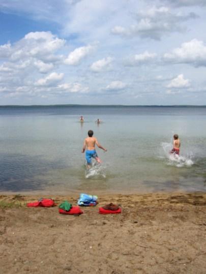 Higgins Lake afternoon swim