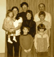 The whole clan - I'm the one Mom is holding.