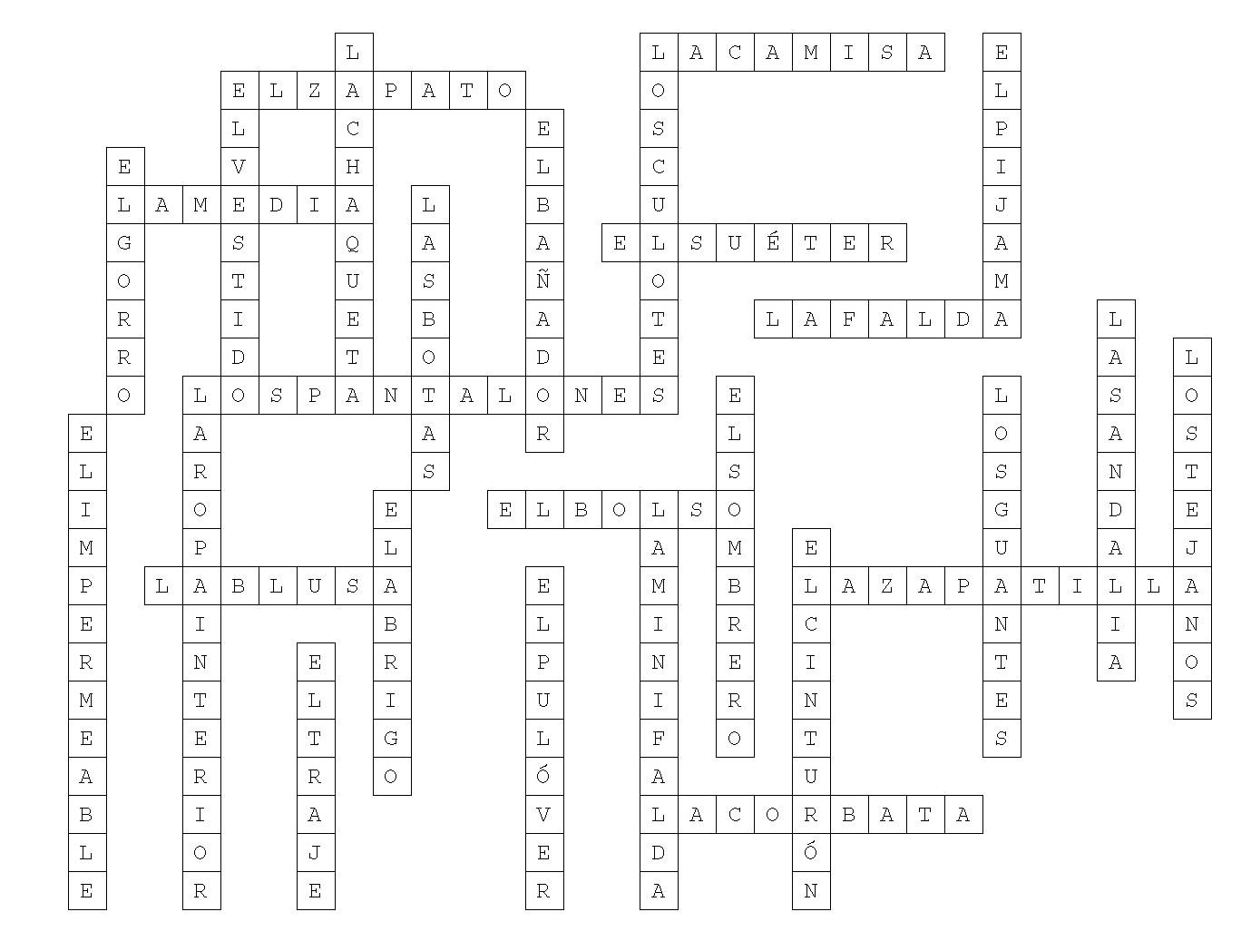 Practice Spanish With A Crossword Puzzle