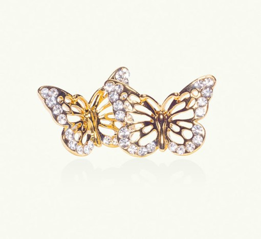 gold-tone butterfly earrings