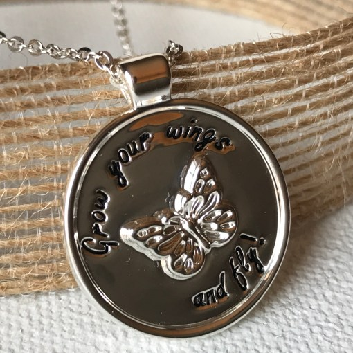 Tag Butterfly Necklace