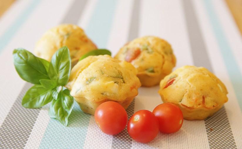 Muffin feta - tomate - basilic