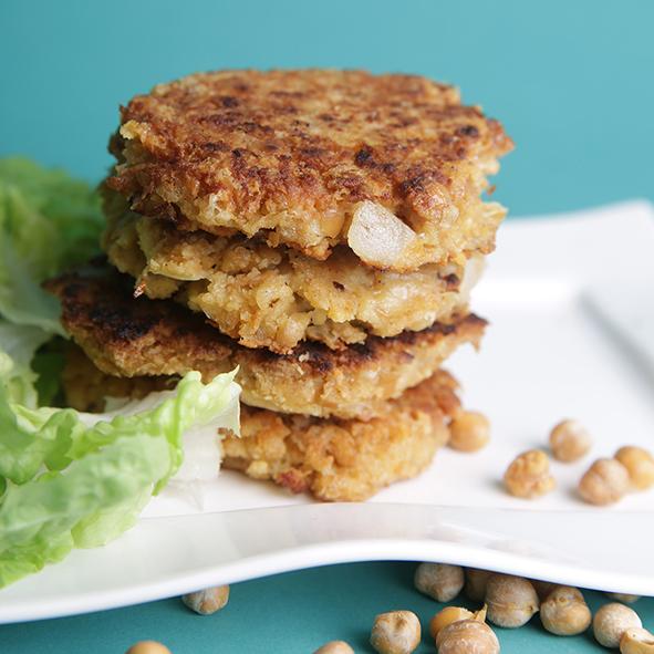 Galettes de pois chiches – pour un repas végétarien