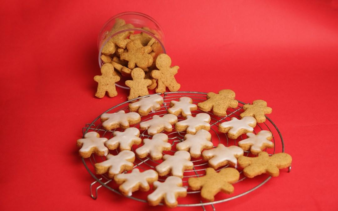 Gâteau de Noël : biscuit en forme de bonhomme au Spéculoos