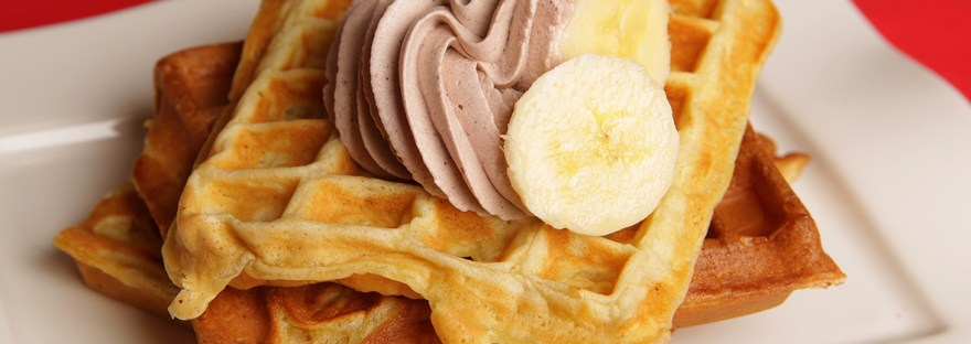 Gaufre à la banane sans beurre